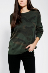 Camo Sweater by Sparkle and Fade at Urban Outfitters