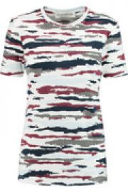 Camo printed cotton-jersey T-shirt at The Outnet