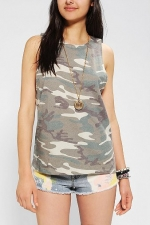 Camo tank at Urban Outfitters at Urban Outfitters