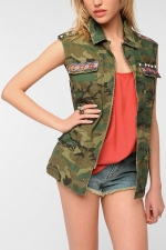Camo vest at Urban Outfitters at Urban Outfitters