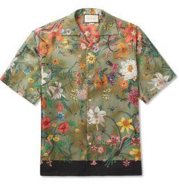 Camp-Collar Printed Silk-Twill Shirt  Gucci at Mr Porter