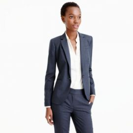 Campbell blazer in pinstripe Super 120s wool at J. Crew