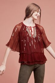 Canalis Keyhole Blouse at Anthropologie