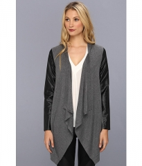 CandampC California Cashmere Blend Drape Cardigan Heather Grey at Zappos