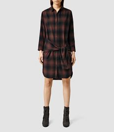 Cannan Check Dress at All Saints