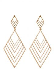 Canvas   Large Geo Chevron Drop Earrings   Nordstrom Rack at Nordstrom Rack