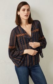 Canyon Floral Embroidered Top at Bcbgmaxazria