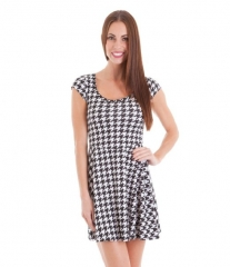 Cap sleeve houndstooth dress at Amazon