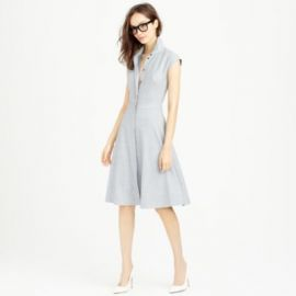 Cap-sleeve shirtdress in Super 120s wool at J. Crew
