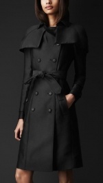 Caped trench coat by Burberry at Burberry