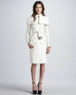 Caped trench coat by Burberry at Neiman Marcus