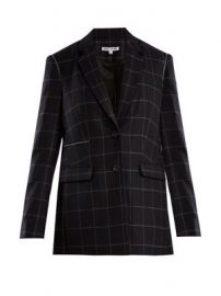 Caprice windowpane-checked wool-blend blazer at Matches
