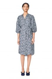 Capucine Floral Hammered Silk Shirtdress at Rebecca Taylor