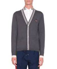 Cardigan wool knit with bee by Gucci at Gucci