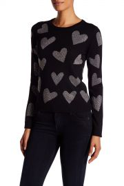 Carey Hearts Crew Neck Wool Sweater at Nordstrom Rack