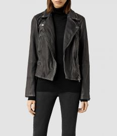 Cargo Leather Biker Jacket at All Saints