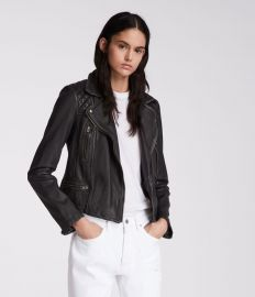 Cargo Leather Biker Jacket by All Saints at All Saints