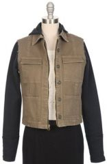 Cargo jacket with fleece sleeves at Ron Herman