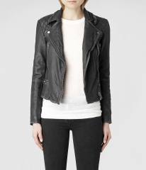 Cargo leather jacket at All Saints