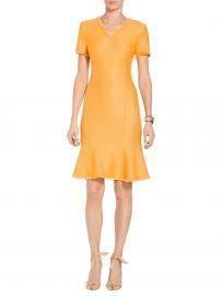 Caris Knit V-Neck Dress at St. John