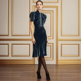 Carla Velvet Dress at Ralph Lauren