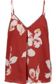 Carlene printed silk camisole at The Outnet