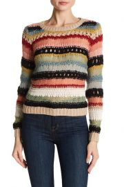 Carly Mixed Yarn Long Sleeve Sweater at Nordstrom Rack
