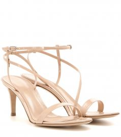 Carlyle Mid patent leather sandals by Gianvito Rossi at Mytheresa