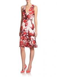 Carolina Herrera - Floral Silk Dress at Saks Fifth Avenue