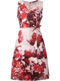 Carolina Herrera Floral Print A-line Wrap Dress - Julianne at Farfetch