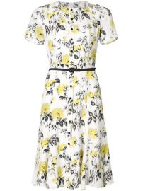Carolina Herrera Floral Print Belt Dress at Farfetch