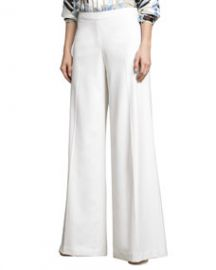 Carolina Herrera Lightweight Wide-Leg Pants at Neiman Marcus