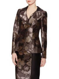 Carolina Herrera Metallic Floral Jacket at Gilt