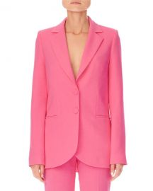 Carolina Herrera Notched-Lapels Two-Button Stretch-Wool Jacket at Neiman Marcus