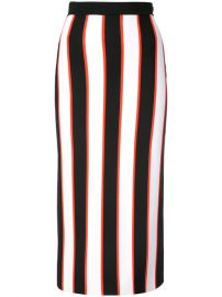 Carolina Herrera Striped Pencil Skirt at Farfetch