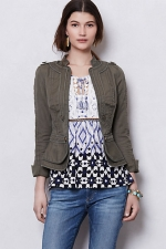 Jenna's khaki jacket at Anthropologie at Anthropologie