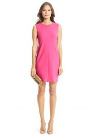 Carrie Dress in Hot Coral at DvF
