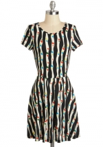 Carrie's black and white dress at Modcloth