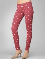 Carrie's pink polka dot jeans at Paige