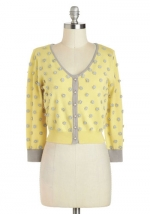 Carrie's top as a cardigan at Modcloth