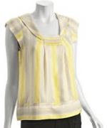 Carrie's yellow striped top at Bluefly