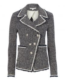 Carroll Boucle Knit Jacket Veronica Beard at Intermix