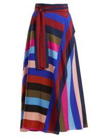 Carson striped silk wrap skirt at Matches