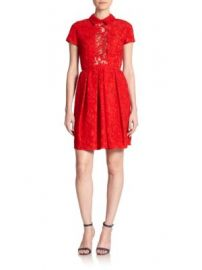 Carven - Sheer-Panel Lace Dress at Saks Off 5th