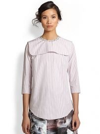 Carven - Striped Cotton Bib-Paneled Shirt at Saks Fifth Avenue