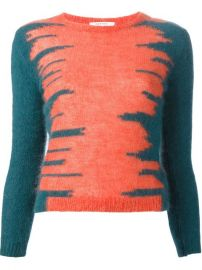 Carven Contrast Print Sweater - at Farfetch