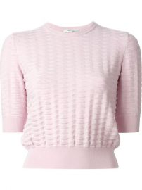 Carven Cropped Basket Knit Sweater - Bernard at Farfetch
