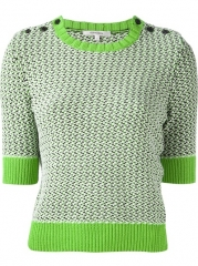 Carven Cropped Knit Sweater - Francis Ferent at Farfetch