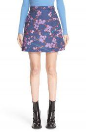 Carven Floral Print A-Line Miniskirt at Nordstrom