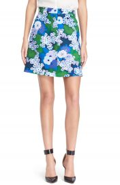 Carven Floral Print A-Line Skirt at Nordstrom
